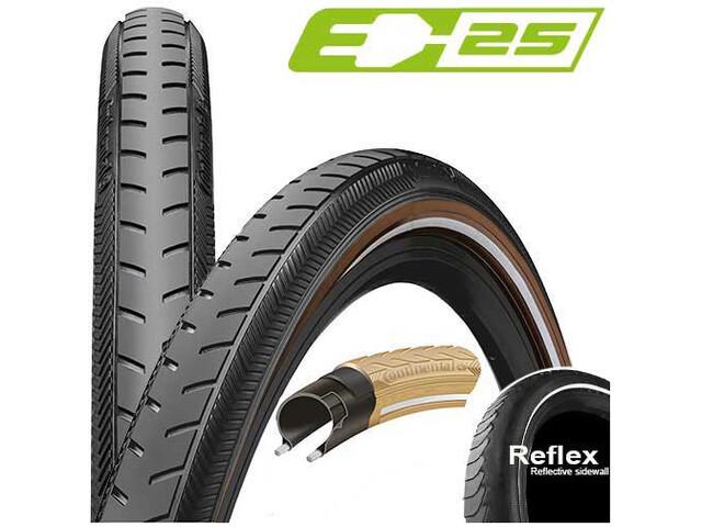 "Continental Ride Classic Wired Tyre 28x1 1/2"" Reflex E-25, black/brown"
